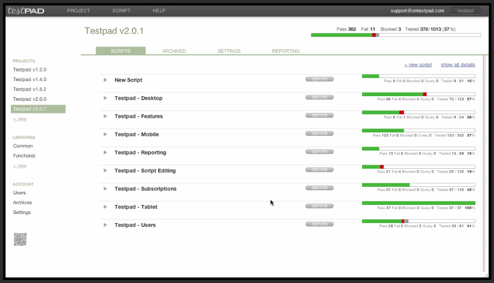 test management tool ontestpad 6