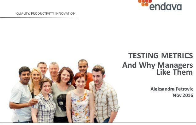 Testing Metrics and why managers like them