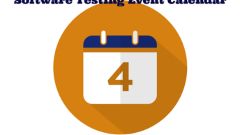Software testing events calendar
