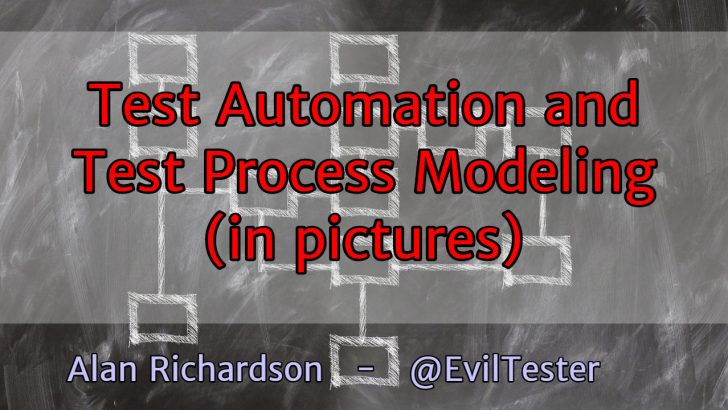Test Automation and Test Process Modelling – an evolutionary and pictorial explanation
